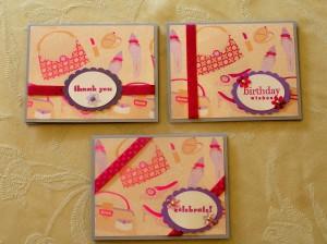 Girlie Girl Cards