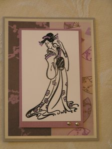 Purple Geisha Card