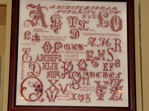 Pretty Redwork Sampler