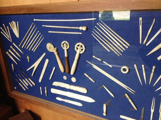 Display of knitting and crochet tools