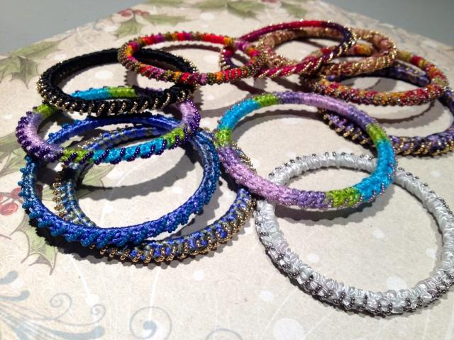 Beaded Crochet Bangles